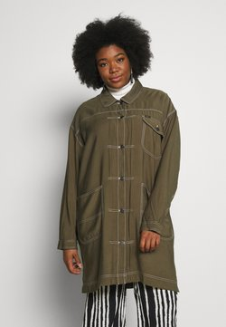 Lee Plus - ELONGATED DUSTER COAT - Kurzmantel - olive green