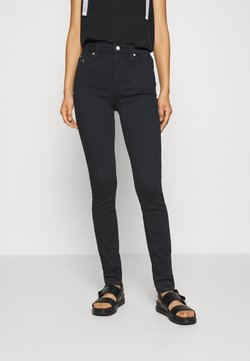 Calvin Klein Jeans - HIGH RISE SKINNY - Jeans Skinny Fit - black denim