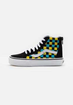 Vans - SK8 ZIP UNISEX - Korkeavartiset tennarit - black/multicolor