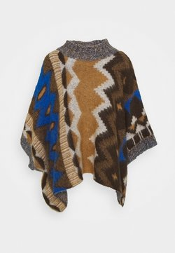 Free People - TRAIL PONCHO - Cape - timber combo