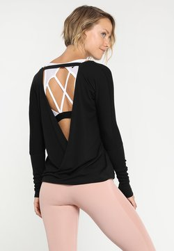 Onzie - DRAPEY V BACK - T-shirt à manches longues - black