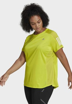 adidas Performance - OWN THE RUN PRIMEGREEN RUNNING - Camiseta estampada - Yellow