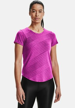 Under Armour - RUNCLIPSE SS - T-Shirt print - meteor pink