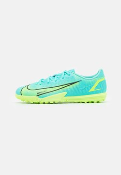 Nike Performance - JR MERCURIAL VAPOR 14 ACADEMY TF UNISEX - Scarpe da calcetto con tacchetti - dynamic turq/lime glow