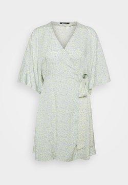 Gina Tricot Petite - DOLLY SHORT DRESS - Kjole - blue ditsy