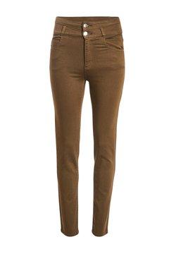 Cache Cache - MIT HOHER TAILLE - Slim fit jeans - vert kaki