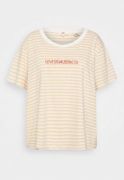 Levi's® Plus - VARSITY TEE - T-shirt print - pearl tofu