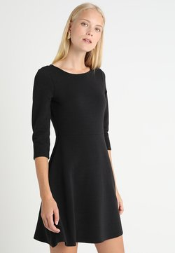 TOM TAILOR DENIM - SKATER DRESS ROUND - Jerseykleid - black