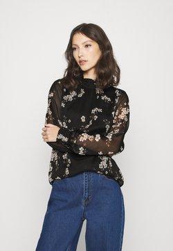 Vero Moda - VMTILI HIGH NECK  - Bluse - black/occasion flower