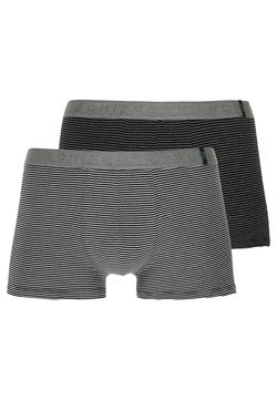 Schiesser - 2 PACK - Panties - mottled grey/black