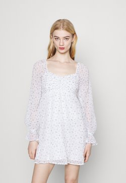 Hollister Co. - SHORT DRESS - Freizeitkleid - white