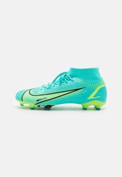 Nike Performance - MERCURIAL 8 ACADEMY FG/MG - Korki Lanki - dynamic turquoise/lime glow