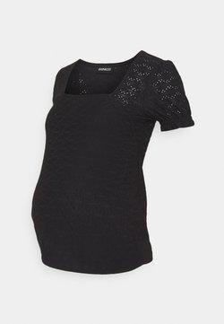 Anna Field MAMA - Stickerei Basic T-shirt - Camiseta básica - black
