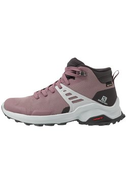 Salomon - X RAISE MID GTX - Outdoorschoenen - flint/phantom/quarry