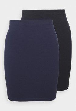 Even&Odd - 2 PACK - Minigonna - dark blue/black