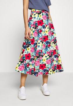 NA-KD - FLOWY SKIRT - A-line skirt - poppy