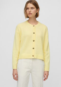 Marc O'Polo - ROUND NECK - Strickjacke - bleached sun