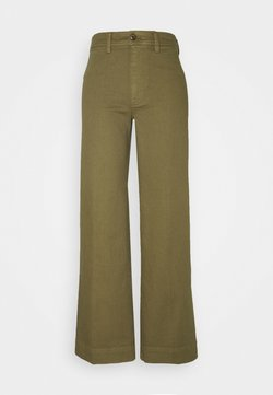 GAP - FULL LENGTH WIDE LEG - Jeans Relaxed Fit - olive