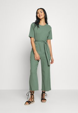 Even&Odd - BASIC - Jumpsuit with belt - Combinaison - khaki