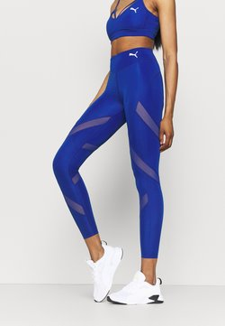 Puma - PAMELA REIF X PUMA MID WAIST LEGGINGS - Tights - mazerine blue