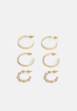 LIARS & LOVERS - TWIST HOOP 3 PACK - Earrings - gold-coloured