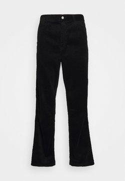 Carhartt WIP - SINGLE KNEE PANT URBANA - Pantaloni - black rinsed