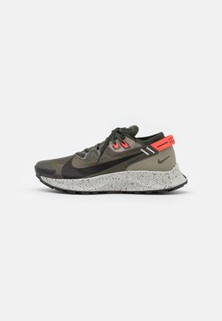 Nike Performance - PEGASUS TRAIL 2 - Trail running shoes - cargo khaki/black/light army/bright crimson/light bone/sequoia