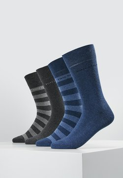 TOM TAILOR - SOCKS STRIPES 4 PACK - Socken - grau/blau