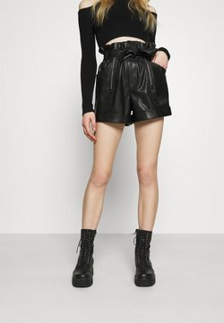 River Island - ZIP AND SELF BELTED  - Shortsit - black