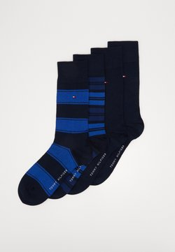 Tommy Hilfiger - SOCK STRIPE GIFTBOX 4 PACK - Sokken - dark navy