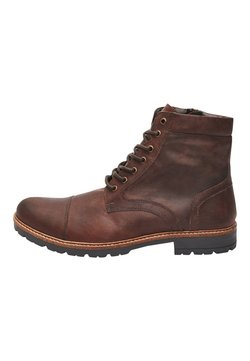 Next - BROWN LEATHER ZIP BOOTS - Schnürstiefelette - brown
