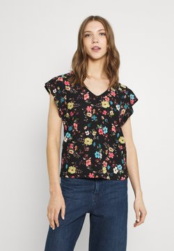 JDY - JDYGITTE SVANS V NECK - T-Shirt print - black
