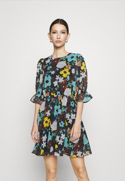 NA-KD - PUFF SLEEVE DRESS - Day dress - black flower