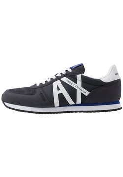 Armani Exchange - RETRO RUNNER - Sneaker low - navy/white