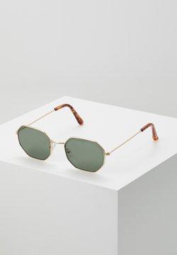 Pier One - Gafas de sol - gold-coloured/green