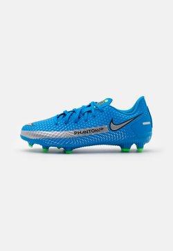 Nike Performance - JR PHANTOM GT ACADEMY MG UNISEX - Voetbalschoenen met kunststof noppen - photo blue/metallic silver/rage green