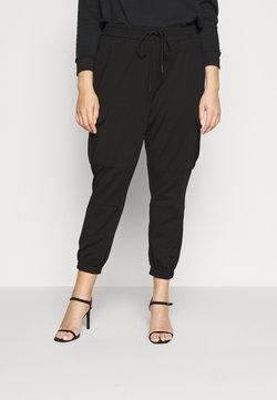 Vero Moda Curve - VMEVA STRING CARGO PANT - Pantalones - black