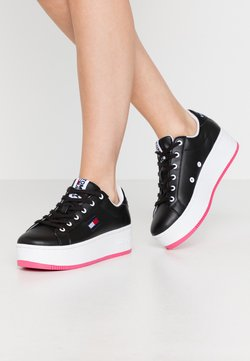 Tommy Jeans - ICONIC FLATFORM  - Sneakers laag - black