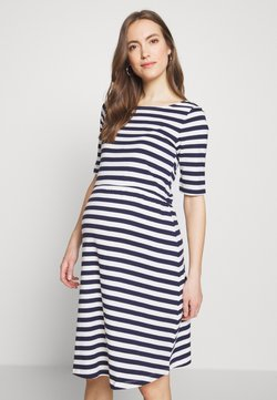 Anna Field MAMA - Jerseykleid - white/dark blue