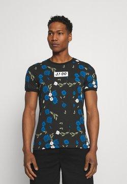 Jack & Jones - JCORAYNOR TEE CREW NECK - T-shirt con stampa - black