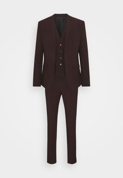 Isaac Dewhirst - THE FASHION SUIT 3 PIECE - Anzug - bordeaux