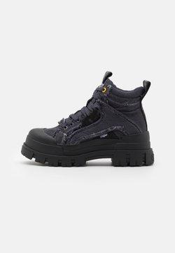 Buffalo - ASPHA MID LACE UP  - Sneakers hoog - black