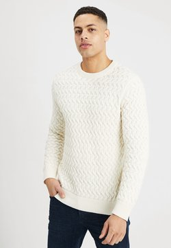 Selected Homme - SLHCHARLES CABLE BLOCKING - Sweter - marshmallow