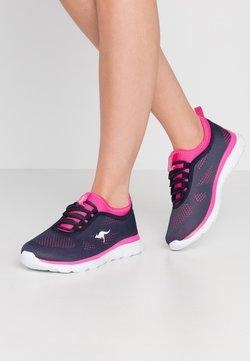 KangaROOS - KN-RUN NEO - Sneakers laag - dark navy/daisy pink