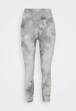 Nike Performance - ONE CROP - Tights - smoke grey/white