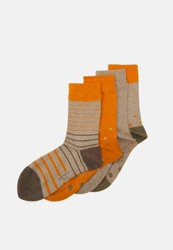 camano - ONLINE SOFT SOCKS UNISEX 4 PACK - Socken - desert sun