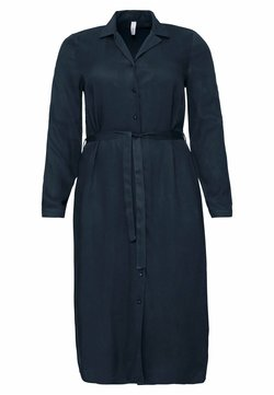Sheego - Vestido camisero - nachtblau
