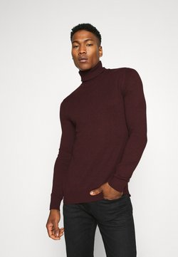 Jack & Jones - JJEEMIL ROLL NECK - Strickpullover - port royale melange
