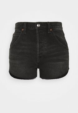 Free People - TALIESIN CUT OFF - Szorty jeansowe - washed black