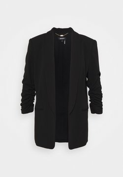 DKNY - RUCHED SLEEVE OPEN  - Blazer - black